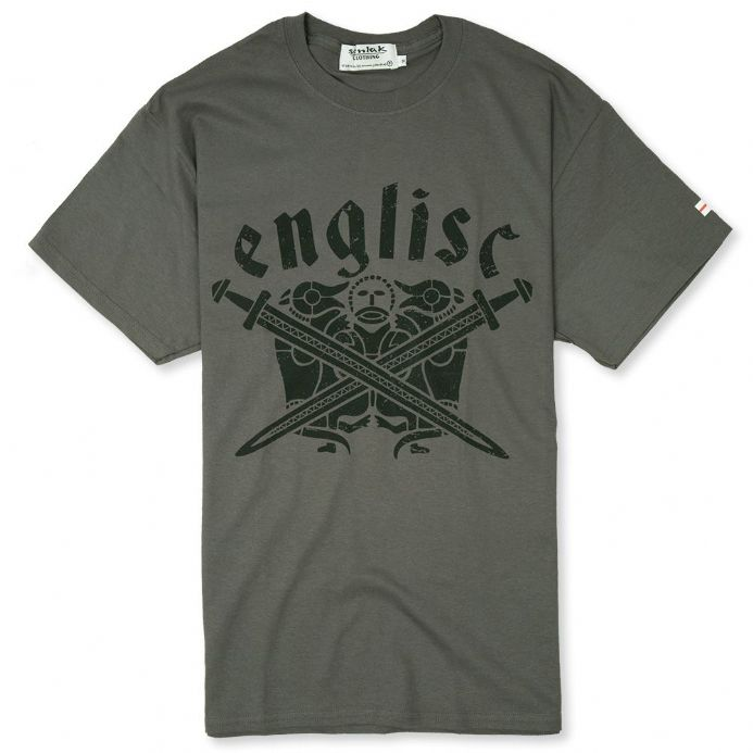 "Tiw ""Englisc"" T-shirt of the Anglo-Saxon God - Steel"